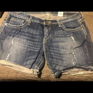 Cruel Girl Unfinished Hem Shorts